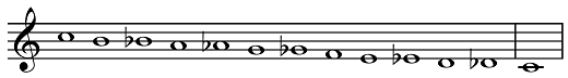 chromatic scale, descending