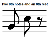 eighth notes and rest