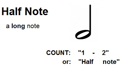 count half notes