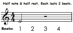 half rest and half note (time value)