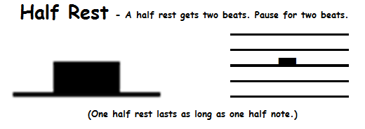 how to write a half note rest