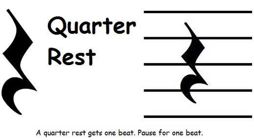 Quarter rest music symbol