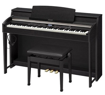 A digital piano.