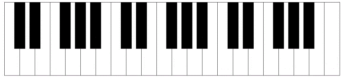 Printable piano keyboard template piano keys layout for Blank keyboard template printable