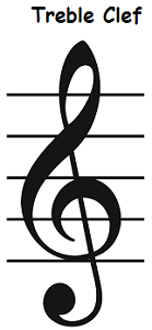 treble clef sign