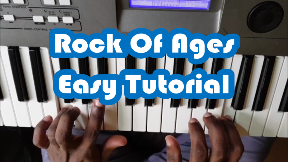 Rock Of Ages Cleft For Me Easy Piano Tutorial For Beginners